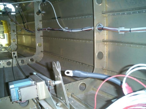 Aft tailcone wiring buttoned up
