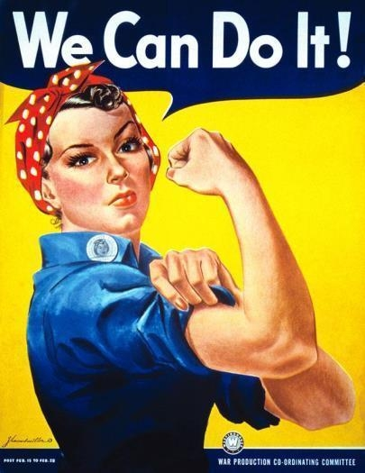 The classic riveter gal!  Thanks Rosie!