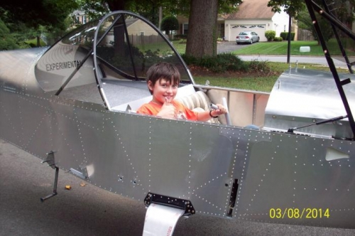Ryan with his fighter pilot pose.