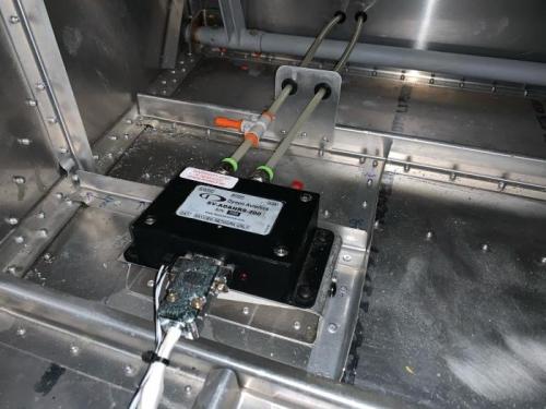 ADAHRS vibration caution led to floor stiffeners around ADAHRS.