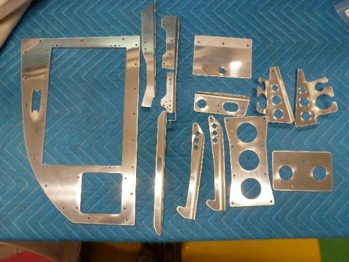 deburred avionics parts