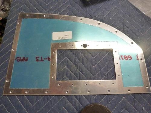 right side panel prepared