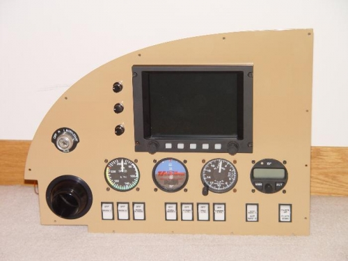 pilot panel with instruments back in  - I like it!