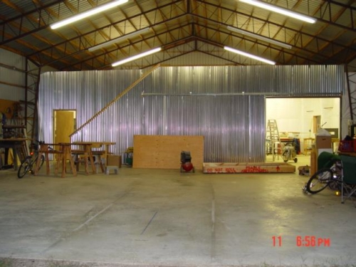 Hangar looking at shop