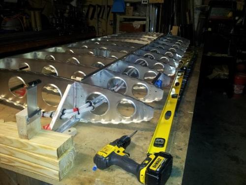 straightening main spar