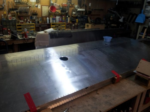 l view prior to riveting
