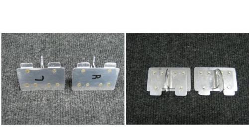 Right & Left vent door front/back
