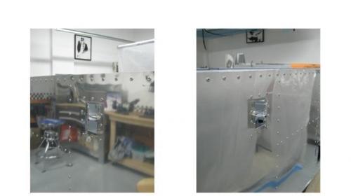 Right & left vent doors installed