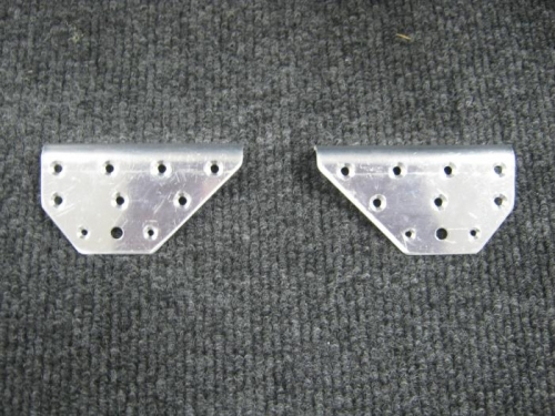 Separated, deburred & primed canopy attach doublers
