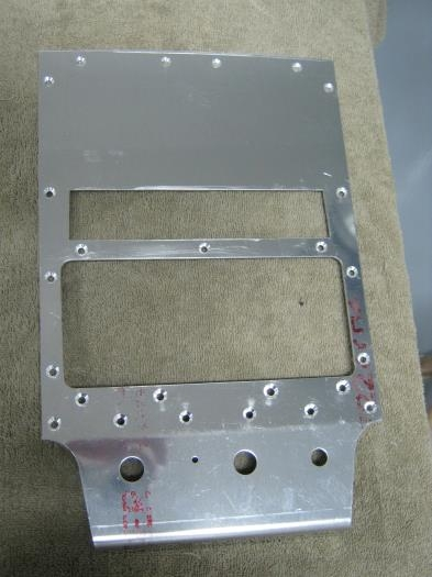 Center instrument panel prepped and holes countersunk