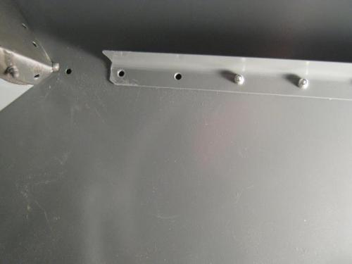 Removed upper segment of the F1202 forward skin stiffener