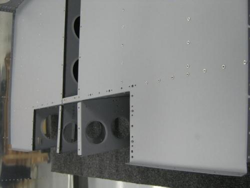 Rivet F1224 baggage floors to the F1206a baggage bulkhead & F1206 baggage ribs