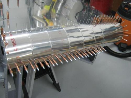 Riveted left side F1275 A-F and F1274 fuselage corner skins