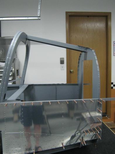 Side view-baggage bulkhead