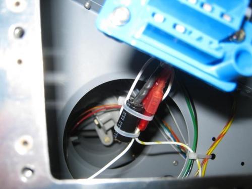 Strobe noise filter installed