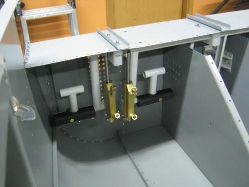 Rudder pedal assembly installed-Left side