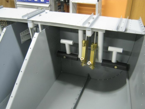 Rudder pedal assembly installed-Right sid