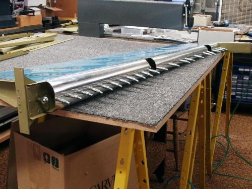 Rudder Leading Edge Riveting