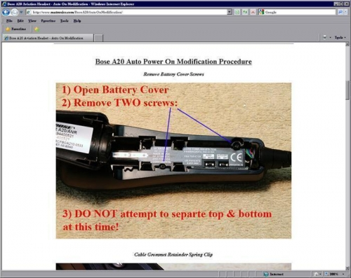 Sample Screen Shot From Web Site