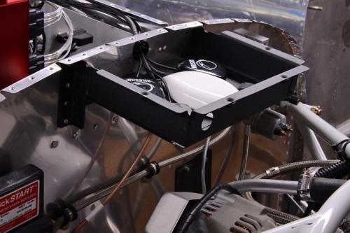 Riveting GPS Antenna Box To Firewall
