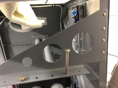 Rudder pedal brace
