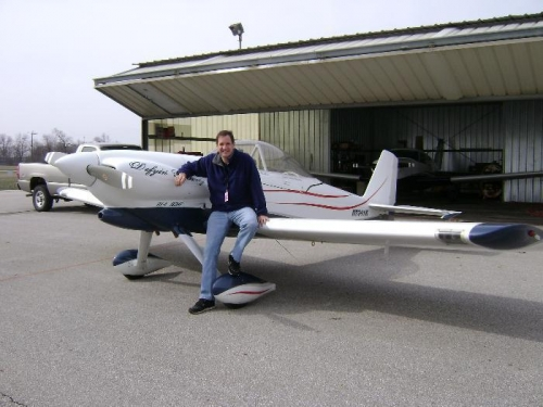 Rick & the RV-4 he built. It has a Blue Mountain One EFIS and a big 180hp with C/S prop- 