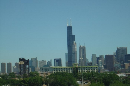 Mitchel caught a nice picture of the Sears tower on the way through Chicago!