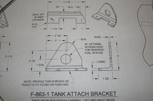 The tank attach bracket