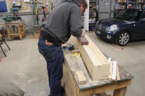 Finishing the bottom trough