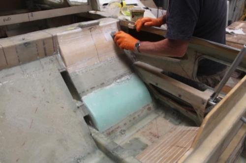 Prepping foam