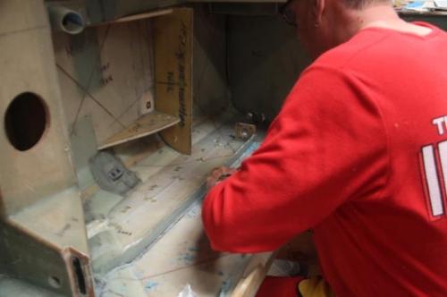 Scraping off the hotglue