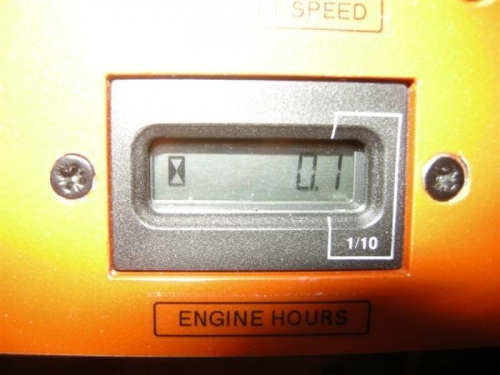 Hobs meter, as installed in instrument panel