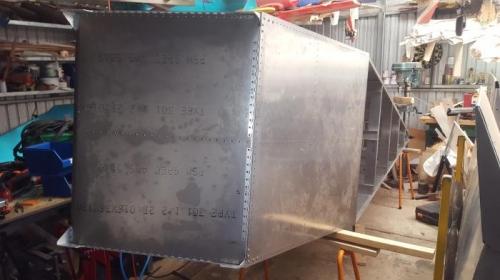 One big aluminium box filling up my shed.