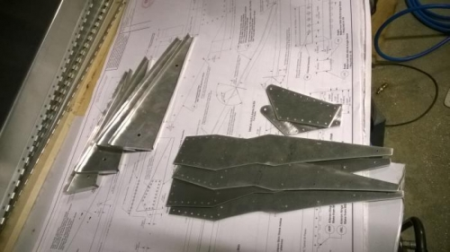 Finished aileron components