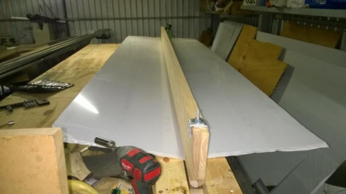The sheet in place with just a little tension holding it in place.
