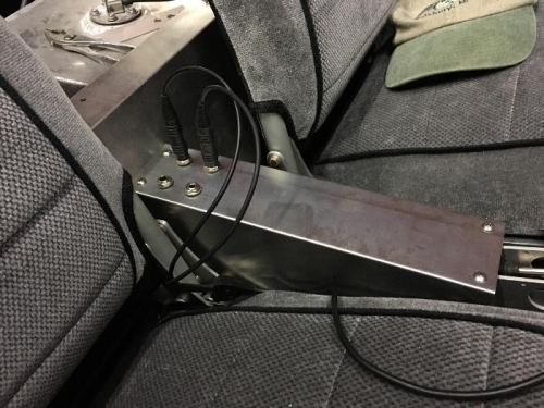 Headset jacks between seats