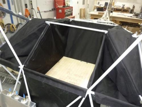 Cargo sack installed