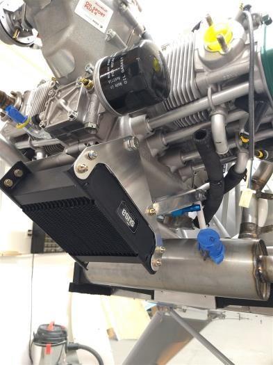 Oil cooler final test fit.