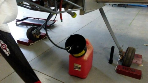 Fuel System Flush Catch Can