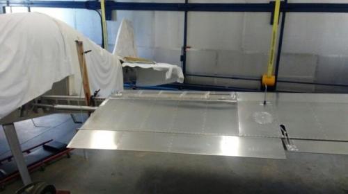 Wing Upside-Down for Pitot Leak Investigation