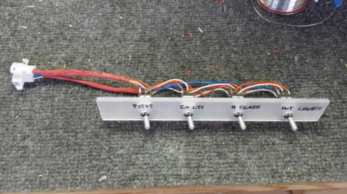 switches set in temporary plexi