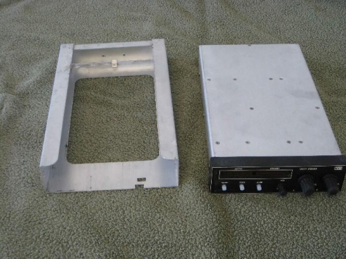 Radio front with mounting tray