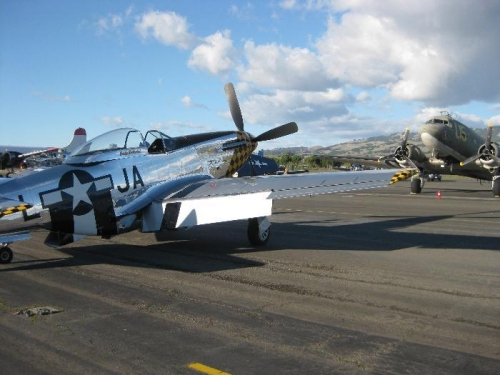 P-51 and C-47