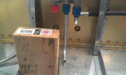 Fuel valve to fuel pump.