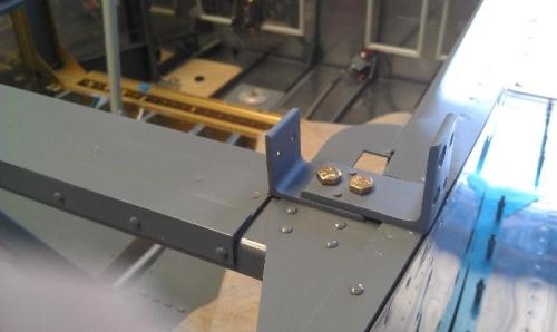 Right side frame bracket reinstalled