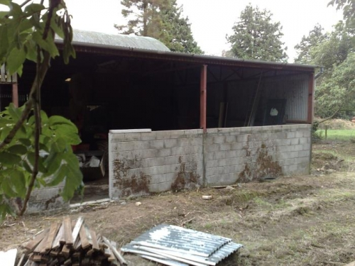 Sheeting off, wall height to be raised