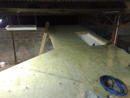 Sheeted down the mezz