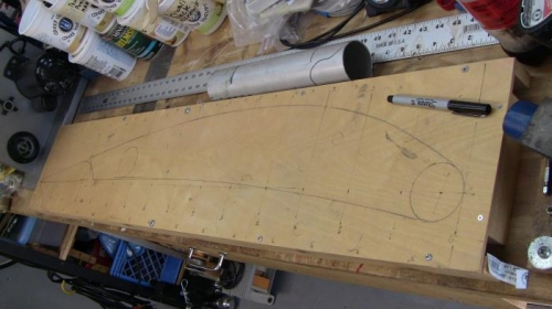 Wing rib template for jig fabrication