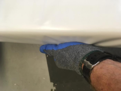 Heating with heat gun and stretching to fit