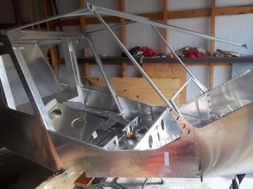 Front and rear fuselage joined